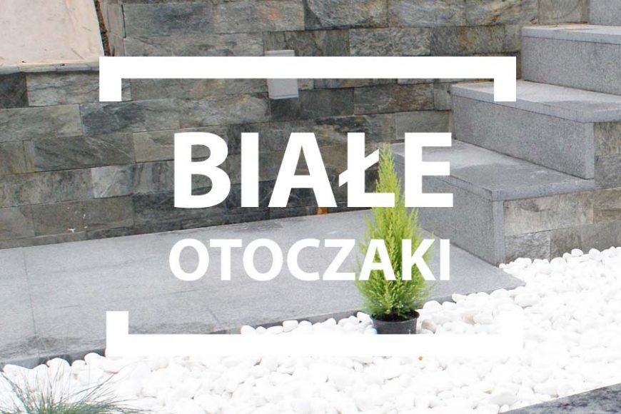 Białe otoczaki do ogrodu prosto z Grecji